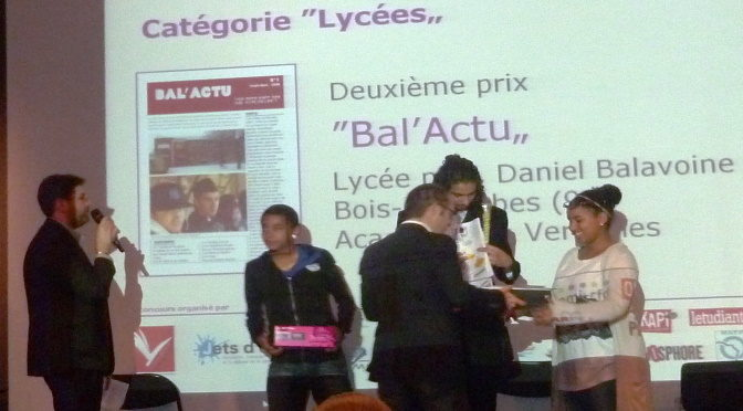 Bal'actu primé au prix Alexandre Varenne 2011