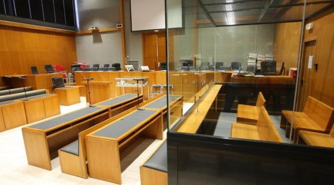 Dans la salle d'audience du tribunal de grande instance de Nanterre